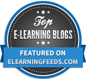 eLearning feeds badge on training management software blog