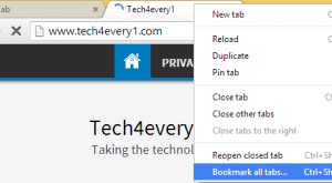 Image for How to bookmark all open browser tabs