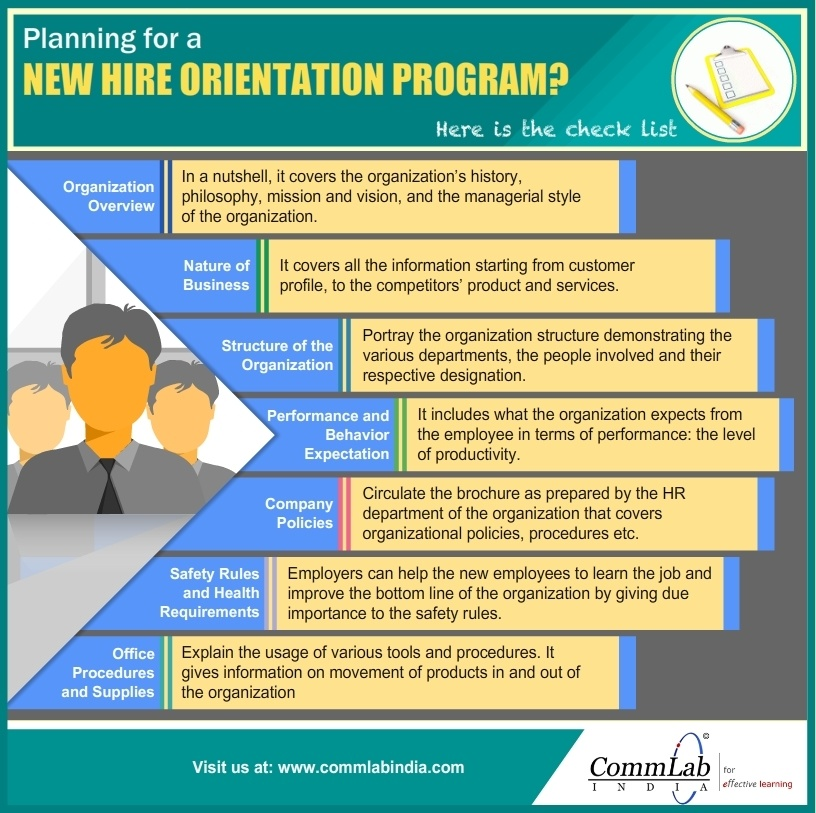 checklist to build a successful new hire orientation