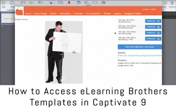 how to access elearning brothers templates in captivate 9 e learning feeds