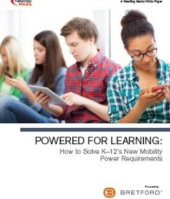 Image for White paper - How to Solve K-12's New Mobility Power Requirements