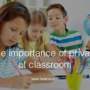 Image for The Importance of Privacy of Classroom