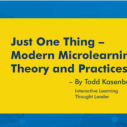 Image for Microlearning - A Practitioner's Guide: An Overview