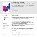 Image for getAbstract's Review of Embracing Change Scores 8/10