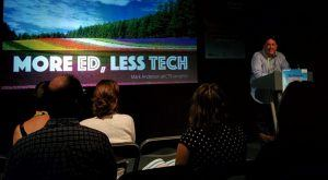 Image for My presentation slides from #EducationFest on 'More Ed, Less Tech'