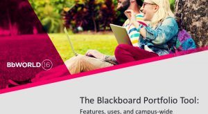 Image for #BbWorld16 The Blackboard Portfolio tool: Features, uses, and campus-wide implementation process