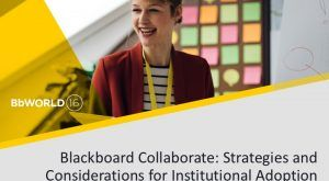 Image for #BbWorld16 Blackboard Collaborate: Strategies and Considerations for Institutional Adoption