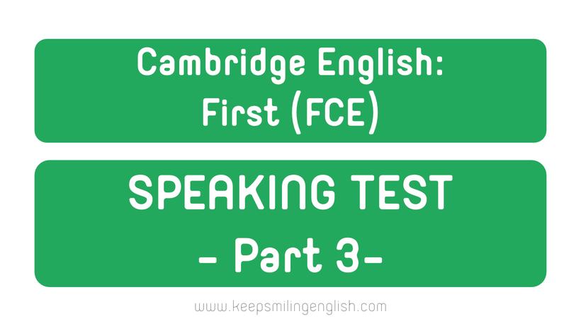 cambridge english first speaking test