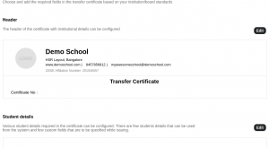 Image for Generate Customized Transfer Certificates for your School now!