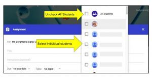 Image for Differentiate with a Click: Google Classroom's New Feature